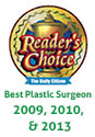 Readers Choice Best Plastic Surgeon 2009, 2010 & 2013
